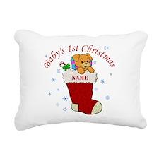 Babys 1st Christmas Rectangular Canvas Pillow