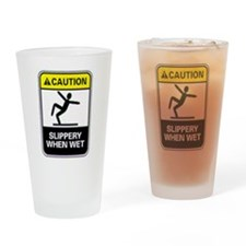 Unique Warning Drinking Glass