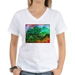 Green Mountains Women's V-Neck T-Shirt