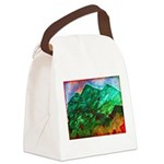 Green Mountains Canvas Lunch Bag