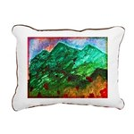 Green Mountains Rectangular Canvas Pillow