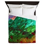 Green Mountains Queen Duvet