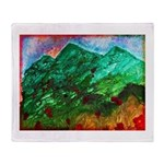 Green Mountains Throw Blanket