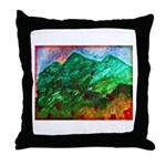 Green Mountains Throw Pillow