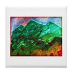 Green Mountains Tile Coaster