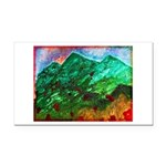 Green Mountains Rectangle Car Magnet