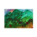Green Mountains Rectangle Magnet (10 pack)