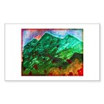 Green Mountains Sticker (Rectangle 10 pk)
