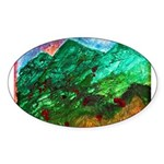 Green Mountains Sticker (Oval 50 pk)