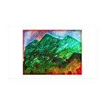 Green Mountains 35x21 Wall Decal