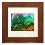 Green Mountains Framed Tile
