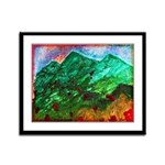Green Mountains Framed Panel Print