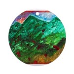 Green Mountains Ornament (Round)
