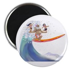 "sUrFiN WiTh sAnTa 2.25"" Magnet (100 pack)"