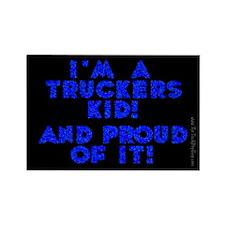 A Trucker's Kid Rectangle Magnet (10 pack)
