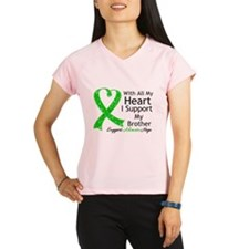 Support Brother Green Ribbon Performance Dry T-Shi