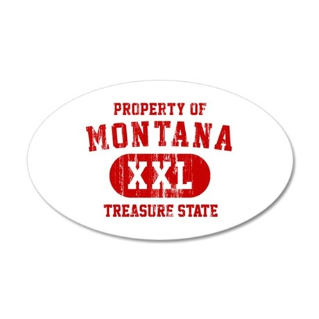 Property of Montana the Treasure State 20x12 Oval