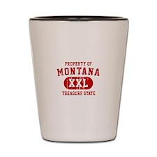 Property of Montana the Treasure State Shot Glass