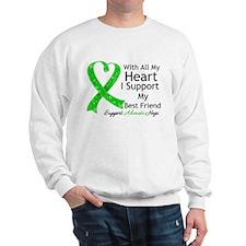 Best Friend Green Ribbon Sweatshirt
