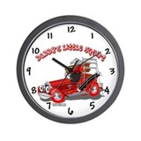 Daddy's Little Squirt Fire Truck Wall Clock