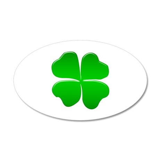 Irish Clover 35x21 Oval Wall Decal