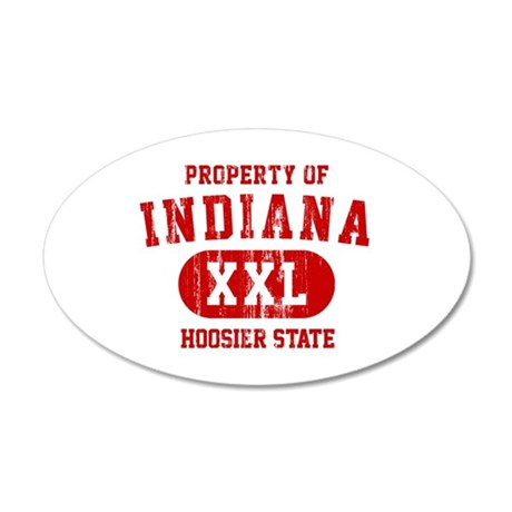 Property of Indiana the Hoosier State 20x12 Oval W