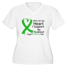 Support Husband Green Ribbon T-Shirt