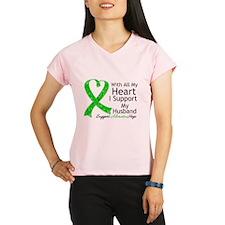 Support Husband Green Ribbon Performance Dry T-Shi