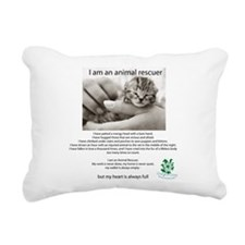 I am an Animal Rescuer Rectangular Canvas Pillow
