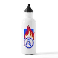 Atheist Sport Flame Water Bottle