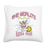 WorldsAngelicLittlegirl.png Square Canvas Pillow