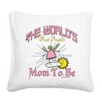 WorldsAngelicMomtobe.png Square Canvas Pillow