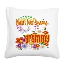 Amazing grammy copy.png Square Canvas Pillow