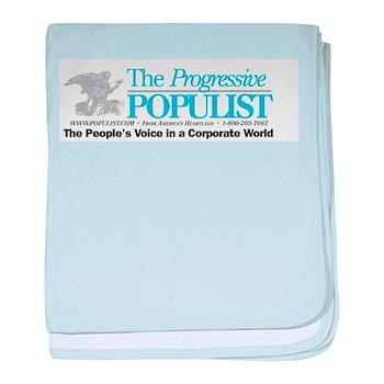Progressive Populist baby blanket