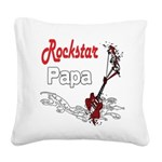 Rockstar papa copy.png Square Canvas Pillow