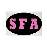 Single Flight Attendant (pink Rectangle Magnet