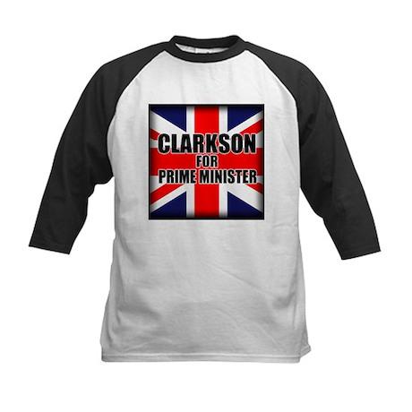 Clarkson for Prime Minister Kids Baseball Jersey
