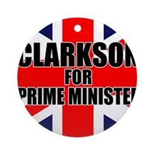 Clarkson for Prime Minister Ornament (Round)