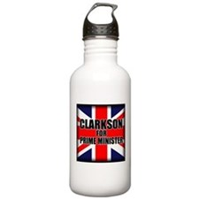 Clarkson for Prime Minister Water Bottle