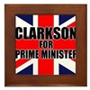 Clarkson for Prime Minister Framed Tile