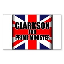 Clarkson for Prime Minister Decal