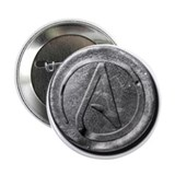 "Atheist Silver Coin 2.25"" Button (10 pack)"