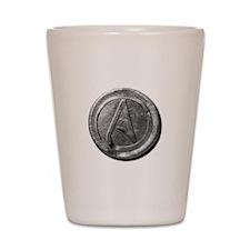 Atheist Silver Coin Shot Glass