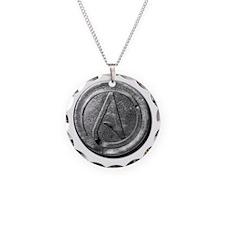 Atheist Silver Coin Necklace