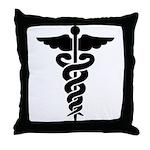 Caduceus Symbol Throw Pillow