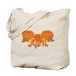 Halloween Pumpkin April Tote Bag