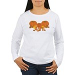 Halloween Pumpkin April Women's Long Sleeve T-Shir