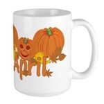 Halloween Pumpkin April Large Mug