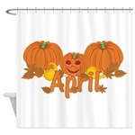 Halloween Pumpkin April Shower Curtain