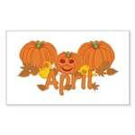 Halloween Pumpkin April Sticker (Rectangle)
